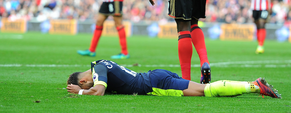 Alex Oxlade-Chamberlain of Arsenal is left frustrated after missing a shot during Sunderland vs Arsenal, Premier League, 29.10.16 (c) Harriet Lander | SportPix.org.uk