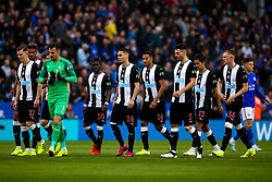 Newcastle United players line up - Mandatory by-line: Robbie Stephenson/JMP - 29/09/2019 - FOOTBALL - King Power Stadium - Leicester, England - Leicester City v Newcastle United - Premier League