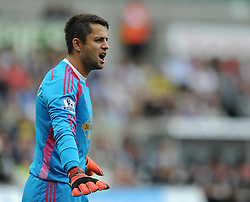 Swansea City's Lukasz Fabianski - Photo mandatory by-line: Alex James/JMP - Mobile: 07966 386802 20/09/2014 - SPORT - FOOTBALL - Swansea - Liberty Stadium - Swansea City v Southampton  - Barclays Premier League
