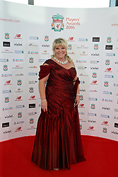 LIVERPOOL, ENGLAND - Thursday, May 12, 2016: A guests arrives on the red carpet for the Liverpool FC Players' Awards Dinner 2016 at the Liverpool Arena. xxxx (Pic by David Rawcliffe/Propaganda)