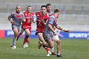 Niall Evalds for Salford Reds during the Betfred Super League match between Salford Red Devils and Catalan Dragons at the AJ Bell Stadium, Eccles, United Kingdom on 30 March 2018. Picture by George Franks.