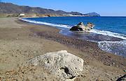 Beach at Los Escullos, Cabo de Gata natural park, Almeria, Spain