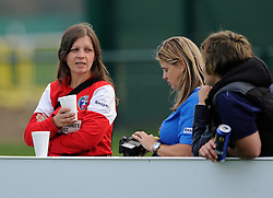 The crowd watch the game between BAWFC v Arsenal Ladies' - Photo mandatory by-line: Dougie Allward/JMP - Mobile: 07966 386802 - 20/09/2014 - SPORT - FOOTBALL - Bristol - SGS Wise Campus - BAWFC v Arsenal Ladies - FA Womens Super League