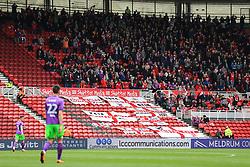 Bristol City fans celebrate after Milan Djuric scores the opening goal - Mandatory by-line: Matt McNulty/JMP - 14/04/2018 - FOOTBALL - Riverside Stadium - Middlesbrough, England - Middlesbrough v Bristol City - Sky Bet Championship