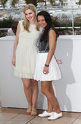 Actresses  Siobhan Reilly (left) and Jasmin Riggins  at the the Cannes Film Festival for the Ken Loach  film The Angel's Share. Tuesday, 22nd May 2012. Photo by: Stephen Lock / i-Images