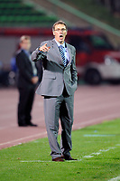 FOOTBALL - UEFA EURO 2012 - QUALIFYING - GROUP D - BOSNIA v FRANCE - 7/09/2010 - PHOTO GUY JEFFROY / DPPI - LAURENT BLANC (FRENCH COACH)