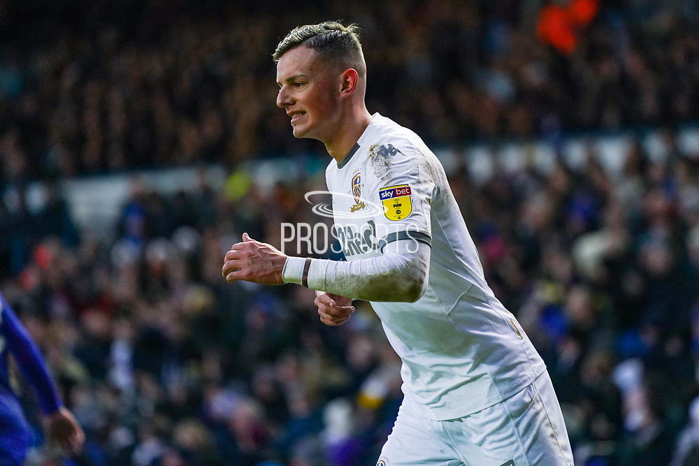 Leeds United defender Ben White (5) reacts during the EFL Sky Bet Championship match between Leeds United and Cardiff City at Elland Road, Leeds, England on 14 December 2019.