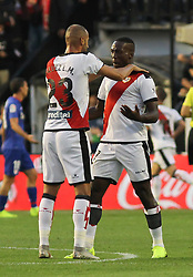 October 24, 2018 - Madrid, Madrid, SPAIN - Players of Rayo Vallecano celebrating a goal during the spanish league, La Liga, football match between Rayo Vallecano and Athletic de Bilbao on October 24, 2018 at Estadio de Vallecas in Madrid, Spain. (Credit Image: © AFP7 via ZUMA Wire)