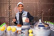 Lemon and ginger juice stand, Bab Doukkala, Marrakech, Southern Morocco, 2018–03-31.