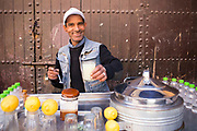 Lemon and ginger juice stand, Bab Doukkala, Marrakech, Southern Morocco, 2018–03-31.