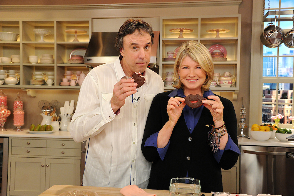 """Kevin Nealon and Martha Stewart are seen during the production of """"The Martha Stewart Show"""" in New York on Tuesday, February 8, 2011. Photo: David E. Steele/The Martha Stewart Show"""