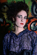 Jennifer Hamdan Purple, Fashion Show, Danceteria Nightclub, New York City, New York, USA, March 1985