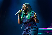 Coko of SWV performs during the Summer Spirit Festival at Merriweather Post Pavilion in Columbia, Md on Sunday, August 6, 2017.