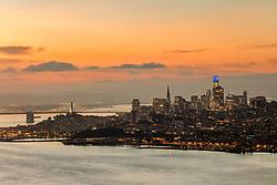 """San Francisco Sunrise 1"" - Photograph of the city of San Francisco, California shot at sunrise."