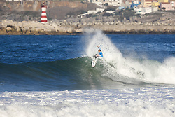 October 25, 2017 - Kolohe Andino of the USA played major spoiler in the Quarterfinals of the MEO Rip Curl Pro Portugal at Supertubos, Peniche, Portugal.  Andino defeated reigning World Champion and current World No.1 on the Jeep Leaderboard John John Florence of Hawaii who had chance of winning a second World Title on finals day.  Andino advances to the Semifinals after defeating Florence in Quarterfinal Heat 2...MEO Rip Curl Pro Portugal 2017, Oeste Subregion, Portugal - 25 Oct 2017 (Credit Image: © Rex Shutterstock via ZUMA Press)
