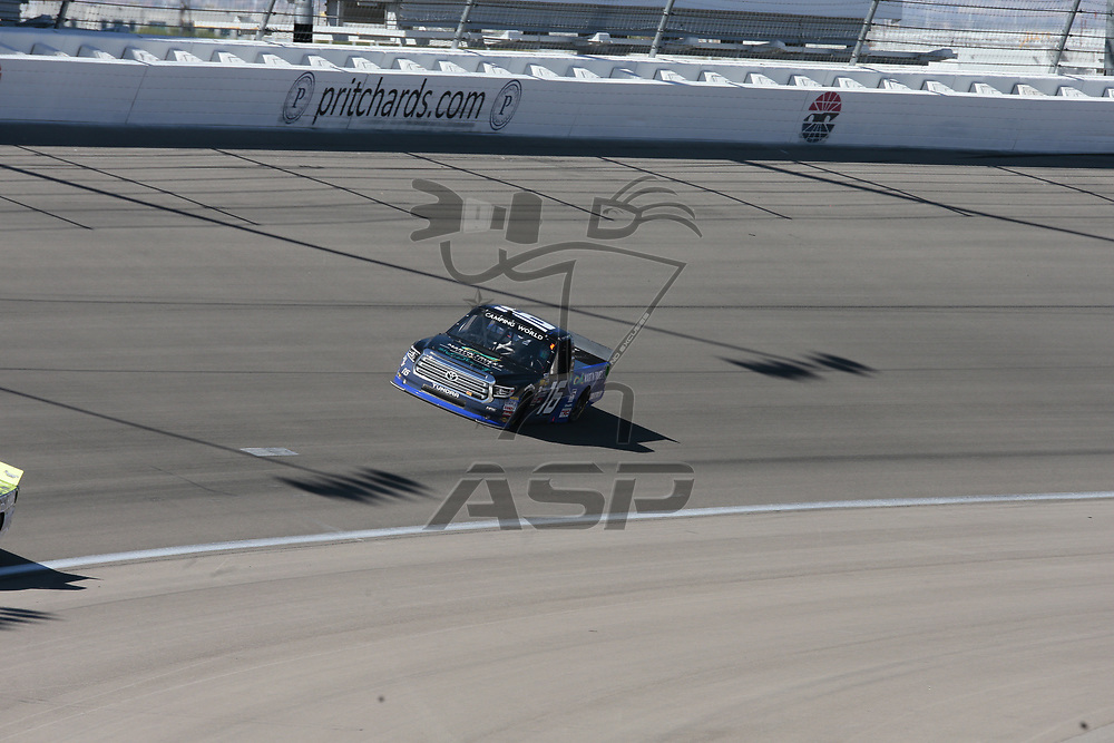 September 30, 2017 - Las Vegas, Nevada, USA: The NASCAR Camping World Truck Series teams take to the track for the Las Vegas 350 at Las Vegas Motor Speedway in Las Vegas, Nevada.