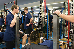 11 January 2008: North Carolina Tar Heels Michael J. Burns during a weights testing session in Chapel Hill, NC.