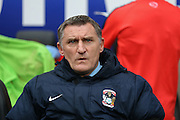 Coventry City Manager Tony Mowbray  during the Sky Bet League 1 match between Coventry City and Port Vale at the Ricoh Arena, Coventry, England on 26 December 2015. Photo by Simon Davies.