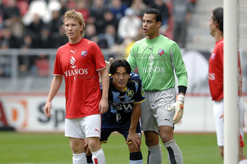 22-10-2006 VOETBAL: UTRECHT - DEN HAAG: UTRECHT<br /> FC Utrecht wint in eigenhuis met 2-0 van FC Den Haag / Michael Mols, Rick Kruys en Michel Vorm<br /> &copy;2006-WWW.FOTOHOOGENDOORN.NL