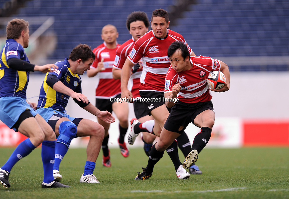 Hirotoki Onozawa (JPN), APRIL 25, 2009 - Rugby : HSBC Asian 5 Nations 2009 between Japan 87-10 Kazakhstan at Kintstsu Hanazono Rugby Grouns, Tokyo, Japan. (Photo by Atsushi Tomura/AFLO SPORT) [1035]
