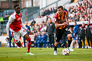 Bradford City midfielder, on loan from West Ham United, Josh Cullen (14) in action  during the EFL Sky Bet League 1 play off first leg match between Bradford City and Fleetwood Town at the Coral Windows Stadium, Bradford, England on 4 May 2017. Photo by Simon Davies.