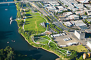 Riverfront Park is a 23-acre commons that runs along the Willamette River at the foot of downtown Salem, making a good pedestrian connection.