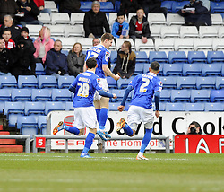Oldham Athletic's Daniel Philliskirk celebrates - Photo mandatory by-line: Joe Meredith/JMP - Tel: Mobile: 07966 386802 08/02/2014 - SPORT - FOOTBALL - Oldham - Boundary Park - Oldham Athletic v Bristol City - Sky Bet League One