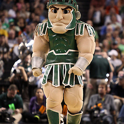 Mar 17, 2011; Tampa, FL, USA; The Michigan State Spartans mascot during the first half of the second round of the 2011 NCAA men's basketball tournament against the UCLA Bruins at the St. Pete Times Forum.  Mandatory Credit: Derick E. Hingle