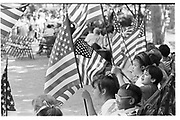 Pupils from PS 6 outside City Hall. Manhattan. New York. 1993. © Copyright Photograph by Dafydd Jones 66 Stockwell Park Rd. London SW9 0DA Tel 020 7733 0108 www.dafjones.com