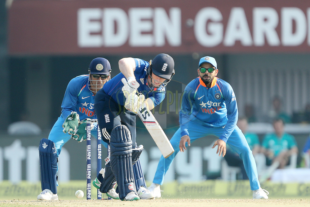 Eoin Morgan, Captain of England appears in his 150th ODI during the third One Day International (ODI) between India and England  held at Eden Gardens in Kolkata on the 22nd January 2017<br /> <br /> Photo by: Ron Gaunt/ BCCI/ SPORTZPICS