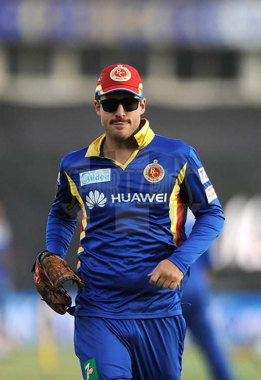 Danniel Vettori, coach of  Royal Challengers Bangalore during a practice session before the start of match 22 of the Pepsi IPL 2015 (Indian Premier League) between The Rajasthan Royals and The Royal Challengers Bangalore held at the Sardar Patel Stadium in Ahmedabad , India on the 24th April 2015.<br /> <br /> Photo by:  Pal Pillai / SPORTZPICS / IPL