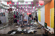 Closing down sale shop of Oxford St. , 8 January 2018,