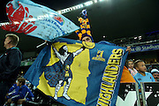 Highlanders fans in the crowd, NSW Waratahs v Otago Highlanders Semi Final. Sport Rugby Union Super Rugby Domestic Provincial. Allianz Stadium SFS. 27 June 2015. Photo by Paul Seiser/SPA Images