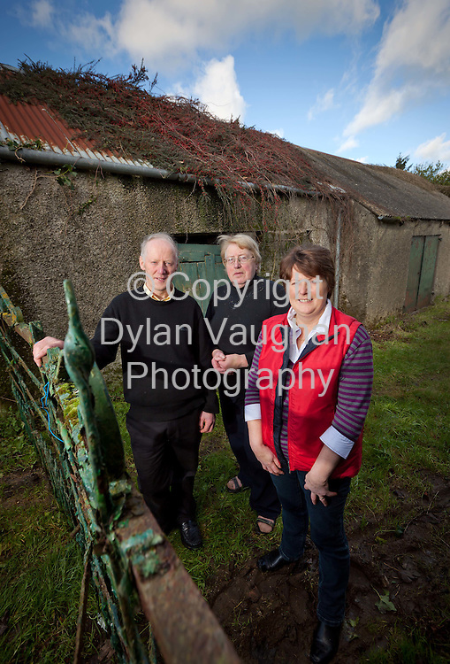 5/11/11.Relatives of George Clooney pictured at the Clooney Homestead in Tullahought Co Kilkenny, from left Willy Burke, Mary Egan and Noreen Burke Hayes..Picture Dylan Vaughan