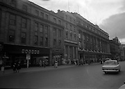 22/03/1966<br /> 03/22/1966<br /> 22 March 1966<br /> Views of O'Connell Street, Dublin following the removal of the ruins of Nelson's Pillar.<br /> Ford Cortina car