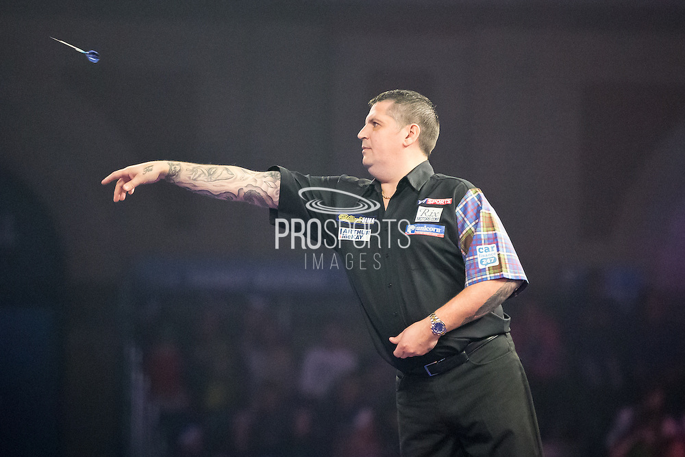 Gary Anderson during the World Darts Championship at Alexandra Palace, London, United Kingdom on 1st January 2016. Photo by Shane Healey.