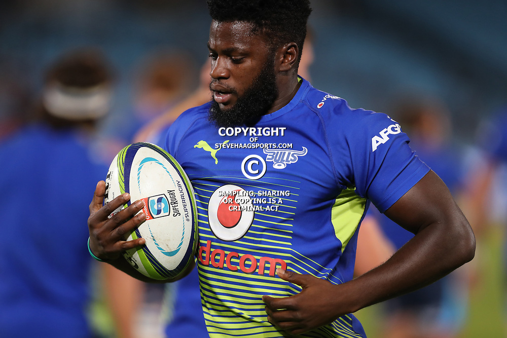 Jamba Ulengo of the Vodacom Bulls during the Super Rugby match between the Vodacom Bulls and the Jaguares at Loftus Versfeld, Pretoria,South Africa April 15th 2017 Photo by (Steve Haag)
