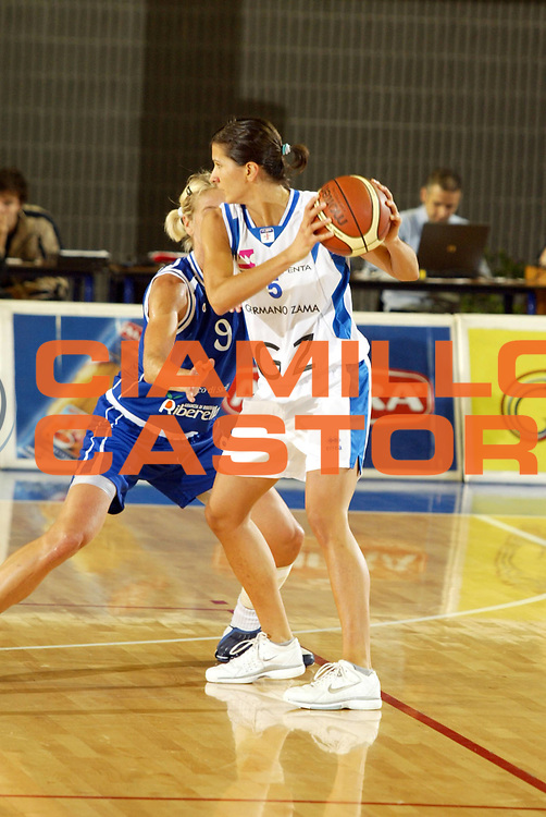 DESCRIZIONE : Taranto Lega A1 Femminile 2005-06 Germano Zama Faenza Banco Di Sicilia Ribera <br /> GIOCATORE : Franchini <br /> SQUADRA : Germano Zama Faenza <br /> EVENTO : Campionato Lega A1 Femminile  2005-2006 <br /> GARA : Germano Zama Faenza Banco Di Sicilia Ribera <br /> DATA : 01/10/2006 <br /> CATEGORIA : <br /> SPORT : Pallacanestro <br /> AUTORE : Agenzia Ciamillo-Castoria