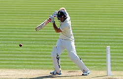 Glamorgan's Colin Ingram guides the ball into the gap off the bowling of Surrey's Jade Dernbach. - Photo mandatory by-line: Harry Trump/JMP - Mobile: 07966 386802 - 21/04/15 - SPORT - CRICKET - LVCC County Championship - Division 2 - Day 3 - Glamorgan v Surrey - Swalec Stadium, Cardiff, Wales.