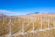 Palm Springs Desert Landscape with Wind Mills