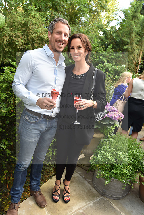 Andrea Mclean and Nick Feeney at the opening of The Ivy Cobham Brasserie, Cobham, Surrey, England. 31 May 2017.
