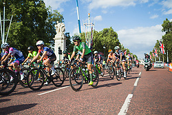 Dani King (GBR) of Waowdeals Pro Cycling Team corners during the Prudential RideLondon Classique - a 64.8 km road race, starting and finishing in central London on July 28, 2018, in London, United Kingdom. (Photo by Balint Hamvas/Velofocus.com)