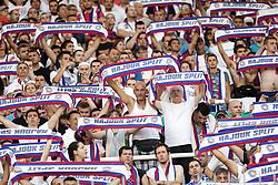 23.07.2015, Stadion Poljud, Split, CRO, UEFA EL, HNK Hajduk Split vs FC Luka Koper, Qualifikation, 2. Runde, Rückspiel, im Bild Choreographie Split // during the UEFA Europa League Qualifier, Second round, second Leg match between HNK Hajduk Split and FC Luka Koper at the Stadion Poljud in Split, Croatia on 2015/07/23. EXPA Pictures © 2015, PhotoCredit: EXPA/ Pixsell/ Petar Glebov<br /> <br /> *****ATTENTION - for AUT, SLO, SUI, SWE, ITA, FRA only*****
