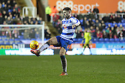 Reading midfielder Oliver Norwood during the Sky Bet Championship match between Reading and Bristol City at the Madejski Stadium, Reading, England on 2 January 2016. Photo by Jemma Phillips.