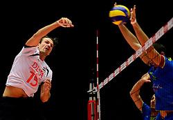 22-09-2013 VOLLEYBAL: EK MANNEN NEDERLAND - SLOVENIE: HERNING<br /> Nederland wint met 3-1 van Slovenie en plaatst zich voor de volgende ronde / Thomas Koelewijn<br /> ©2013-FotoHoogendoorn.nl<br />  / SPORTIDA