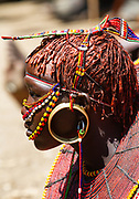An intricately decorated Pokot girl, Kenya.