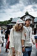 Tokyo, June 22 2013 - In front of Harajuku train station.