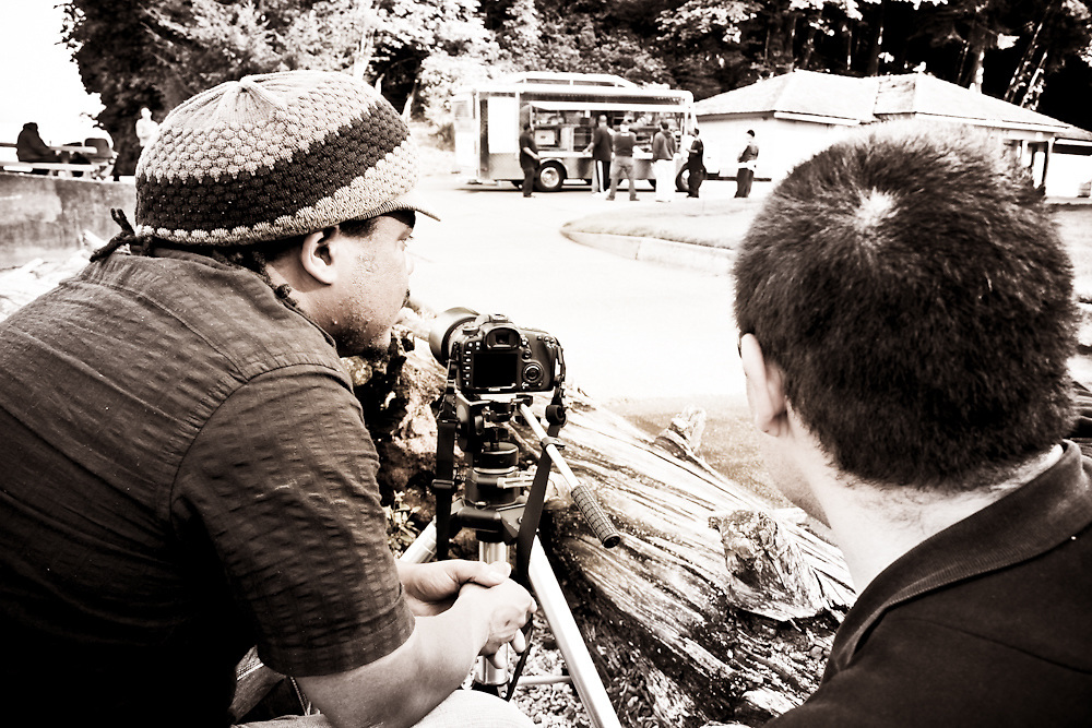 Production Still from Taco Truck Movie at Point Defiance Park in Tacoma