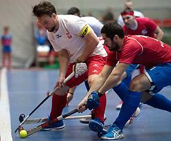 BERLIN - Indoor Hockey World Cup<br /> Czech Republic - Poland<br /> foto: Bartosz Zywiczka <br /> WORLDSPORTPICS COPYRIGHT FRANK UIJLENBROEK