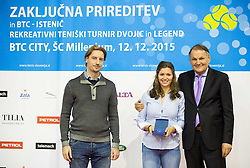 Istenic doubles Tournament and Slovenian Tennis personality of the year 2015 annual awards presented by Slovene Tennis Association TZS, on December 12, 2015 in Millenium Centre, BTC, Ljubljana, Slovenia. Photo by Vid Ponikvar / Sportida